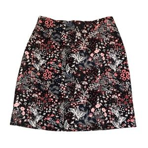 H&M Embroidered Floral Mini Skirt